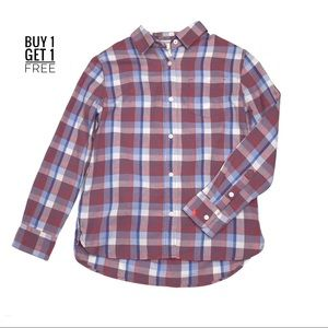 Crewcuts Girls Plaid Button Down Shirt Size 8